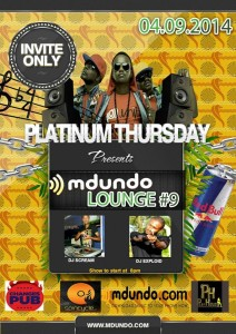 Mdundo Lounge 4th Sept 2014