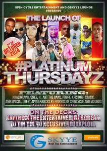 PlatinumThursdayz launch 2nd Oct 2014
