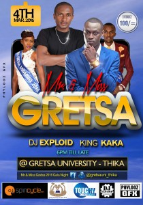 Mr & Miss Gretsa University ( DJ Exploid )