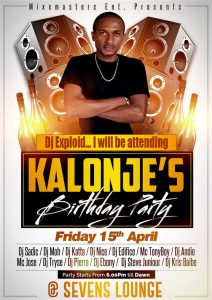 DJ Kalonje Birthday Party With DJ Exploid On The Decks