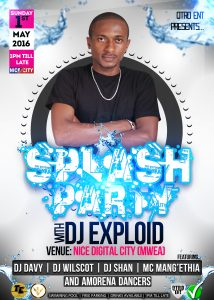 SPLASH PARTY MAY 2ND ( DJ EXPLOID )